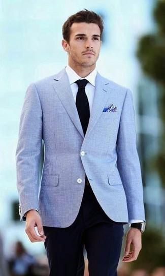 Combinar un blazer celeste (113 looks)   Outfits Hombre