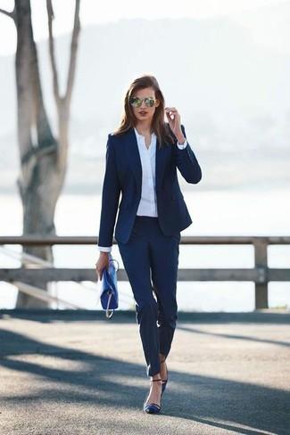 Cómo Marino53 De Pantalón Combinar Looks Azul Un Vestir Moda fyYg7Ib6v