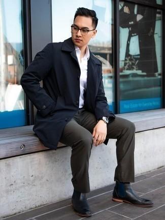Combinar Un Pantalon De Vestir Con Una Gabardina Para Hombres De 20 Anos 10 Looks Outfits Hombre Lookastic Mexico
