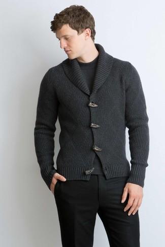 Cárdigan con cuello chal en gris oscuro de Denim & Supply Ralph Lauren