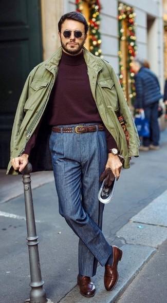Jersey de cuello alto burdeos de Roberto Collina