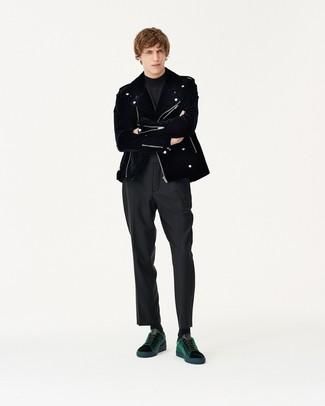 Pantalón de vestir negro de Louis Raphael