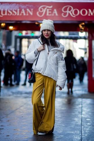 Plumífero blanco de Armani Jeans
