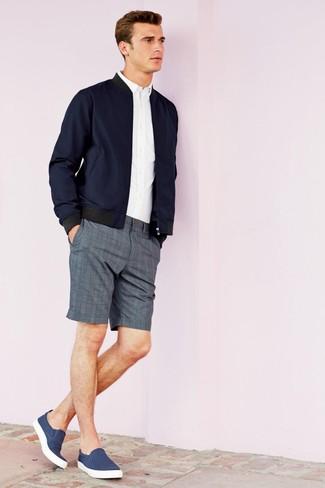 Unos Pantalones Looks Cómo De Combinar Cortos Tartán Grises1 9WIeDEH2Y