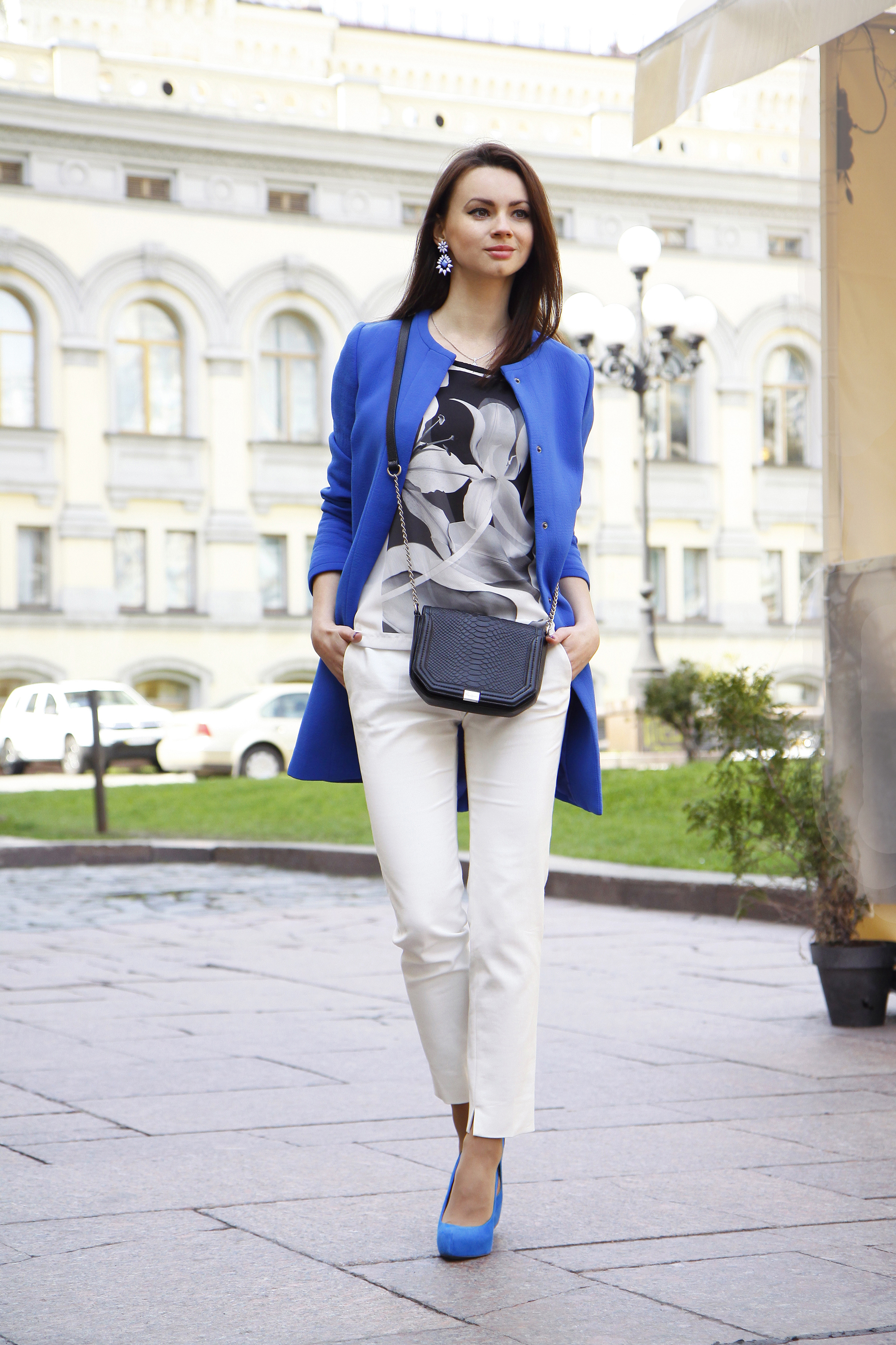 Azul5 Unos De Tacón Abrigo Azules Con Zapatos Combinar Un Cómo ygIf6vYb7