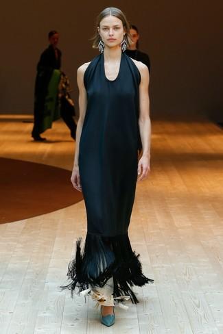Vestido de seda negro de Victoria Beckham