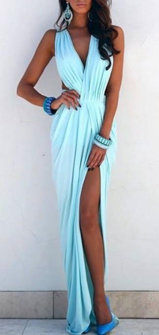Zapatos para combinar con vestido azul turquesa