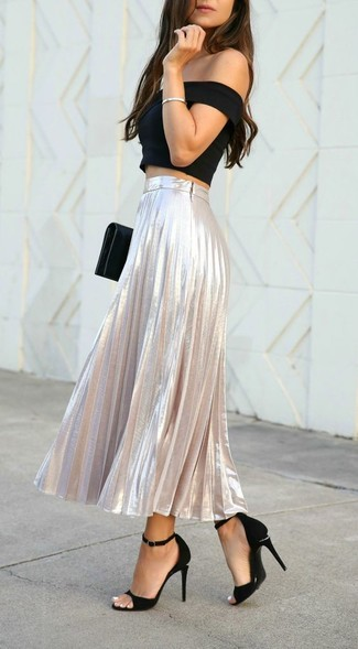 20fef6f92 Cómo combinar una falda larga plisada (71 looks de moda)