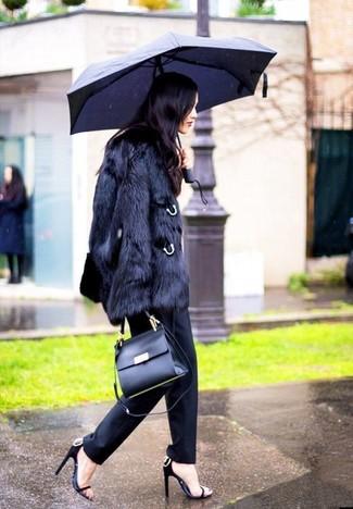 Pantalón de vestir negro de David Koma