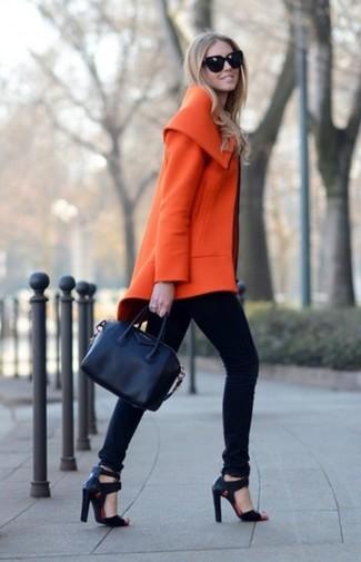 Abrigo naranja de Stella McCartney