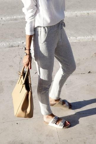 Pantalón de chándal gris de Puma