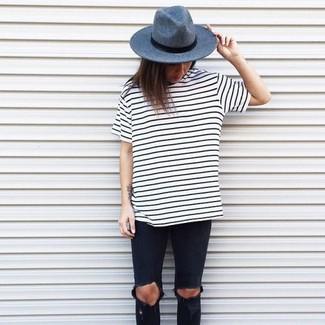 Cómo combinar una camiseta con cuello circular blanca (1260 looks de ... c575d51d286