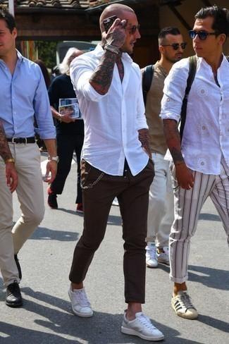 Pantalón chino en marrón oscuro de Haggar