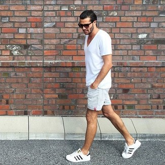 Pantalones cortos vaqueros blancos de Original Penguin