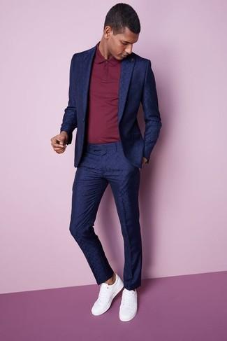 Cómo combinar un traje azul marino (476 looks de moda)  4f2716f04329