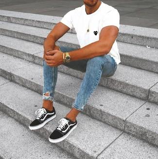 Tenis en negro y blanco de DC