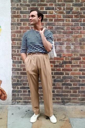 Correa de cuero marrón de Armani Jeans