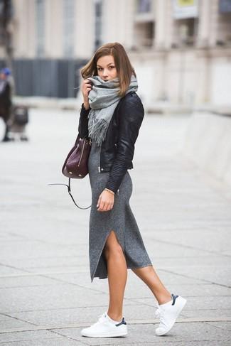 Bolsa tote de cuero morado oscuro de Givenchy