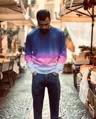 Sudadera azul de Paolo Pecora