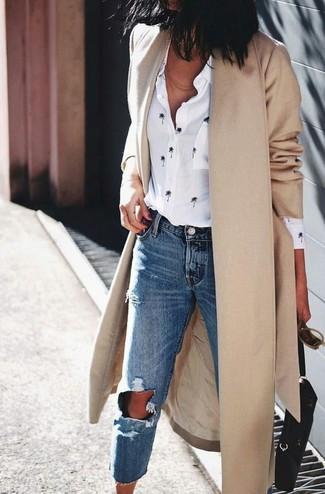 Camisa de vestir bordada blanca de Derek Lam 10 Crosby