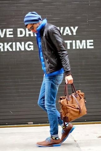 Zapatos derby de cuero marrónes de Fratelli Rossetti