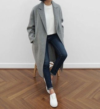 Jersey con cuello circular blanco de Max Mara