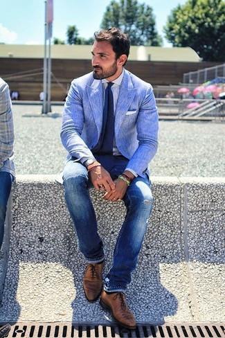 Blazer de Lino Azul de Paul Smith