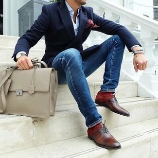 Zapatos oxford de cuero marrónes de John Fluevog