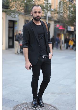 Zapatos oxford de cuero negros de Clarks