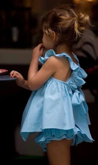 Cómo combinar: vestido celeste