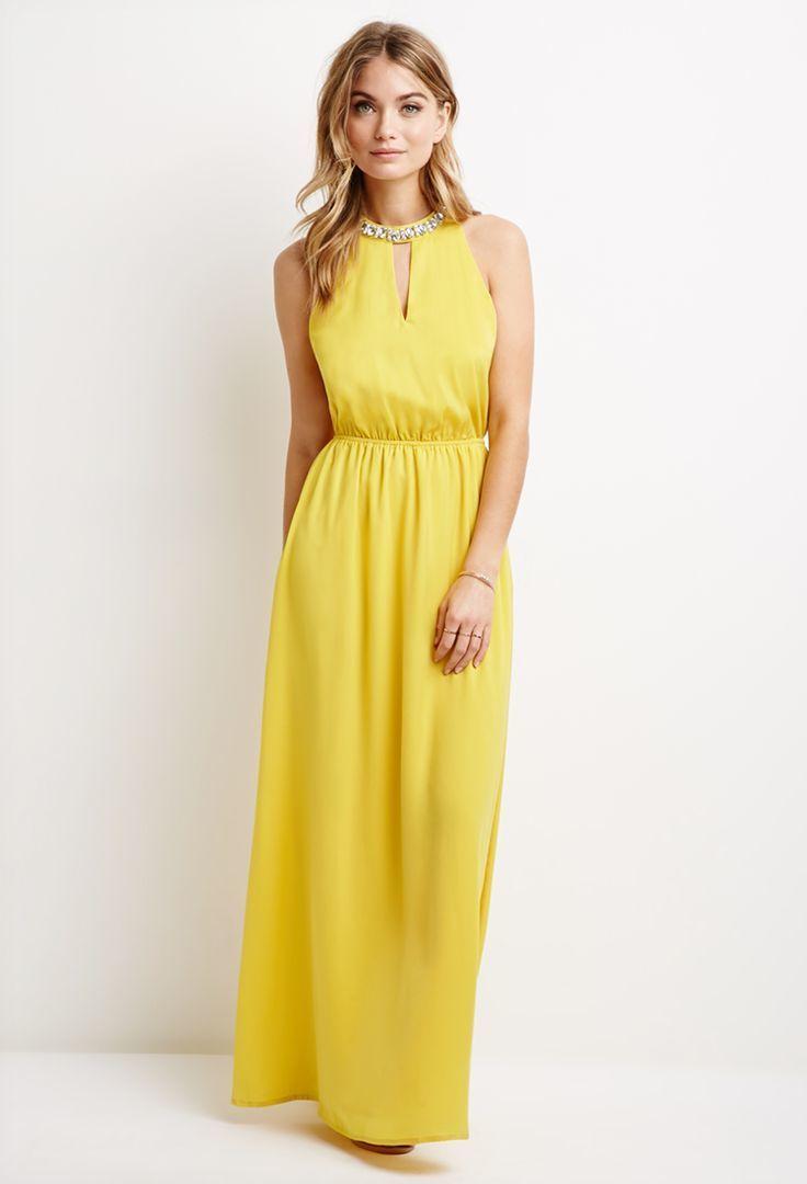 19cfa6375 Cómo combinar un vestido de noche amarillo (37 looks de moda)