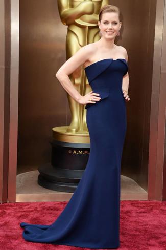 Vestido de noche azul marino large 1383