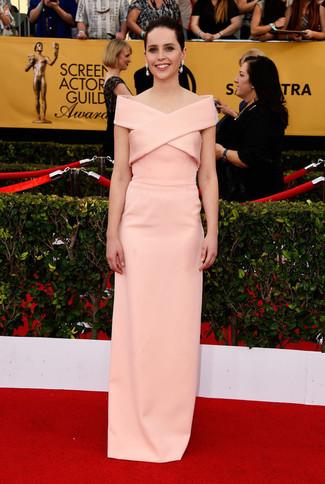 Vestido de noche rosado large 8019