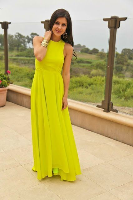8457510aa1971 Vestidos amarillos largos de dia – Vestidos de noche