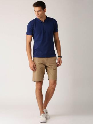 Camisa polo azul marino de Comme des Garcons