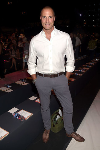 Pantalon Gris Camisa Blanca Hombre Tienda Online De Zapatos Ropa Y Complementos De Marca