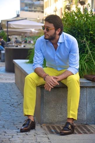 Pantalón chino amarillo de Dockers