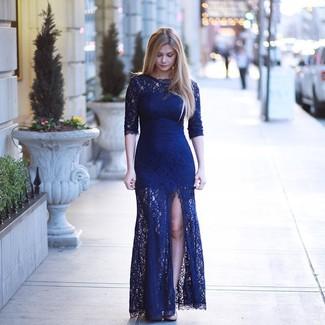 Cómo Combinar Un Vestido De Noche Azul Marino 31 Looks De