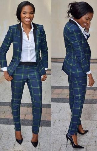 Cómo combinar un traje azul marino (6 looks de moda)  a9457e69c74b