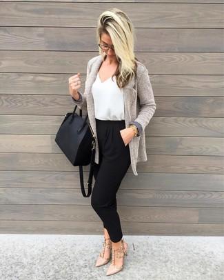 tote Cómo en de zapatos tacón cuero de beige negra combinar bolsa cuero de ggrqOnERP