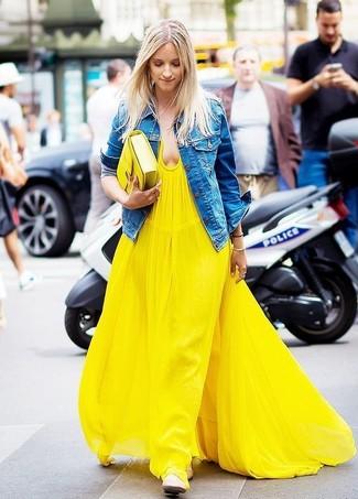 1cc633ede42 Cómo combinar un vestido largo amarillo (30 looks de moda)