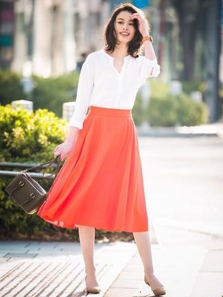 Blusa de manga larga blanca de Sonia Rykiel