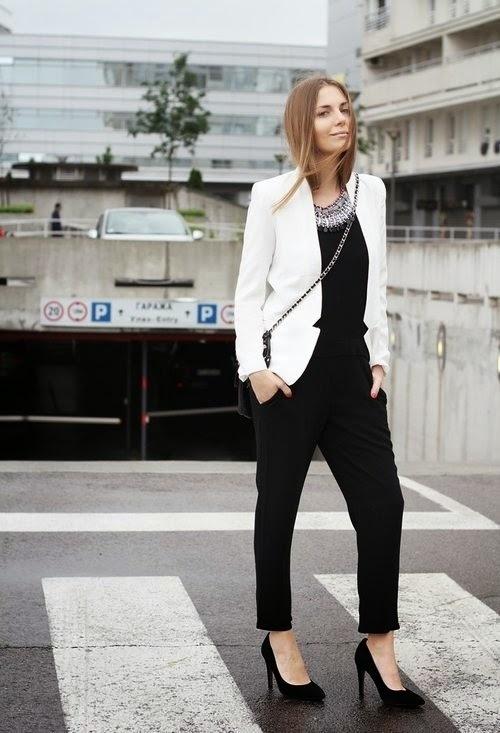 Blanco Cómo Mono Negro Un 3 Blazer De Looks Moda Con Combinar YYCqwg be02caa1b2a3