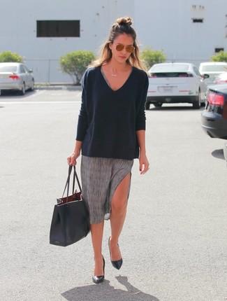 Vestido gris casual zapatos