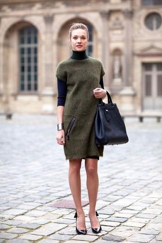 Zapatos para vestido verde marino