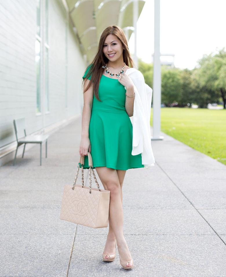 Zapatos para vestido verde y blanco