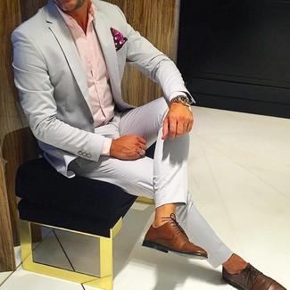 Zapatos derby de cuero marrónes de Trickers