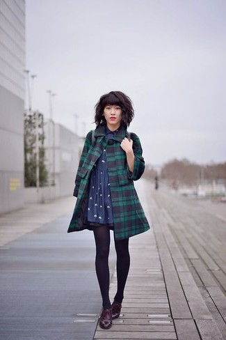 Medias para vestido verde oscuro