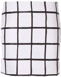 Minifalda a Cuadros Blanca y Negra