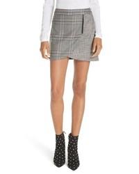Minifalda a cuadros gris